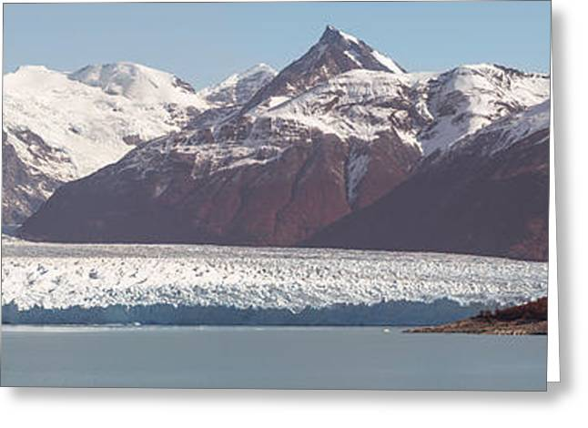 Mountain Greeting Cards - Glaciers In A Lake, Moreno Glacier Greeting Card by Panoramic Images