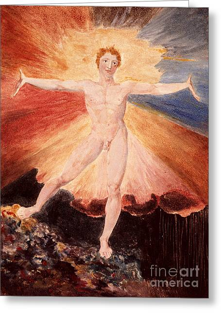 Dance Of Joy Greeting Cards - Glad Day or The Dance of Albion Greeting Card by William Blake