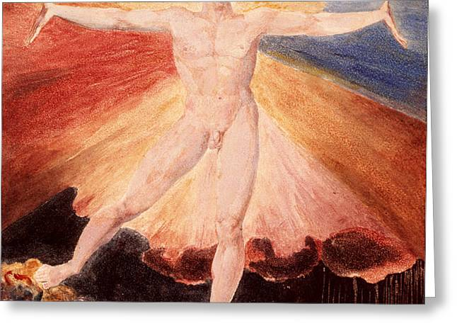 Glad Day or The Dance of Albion Greeting Card by William Blake