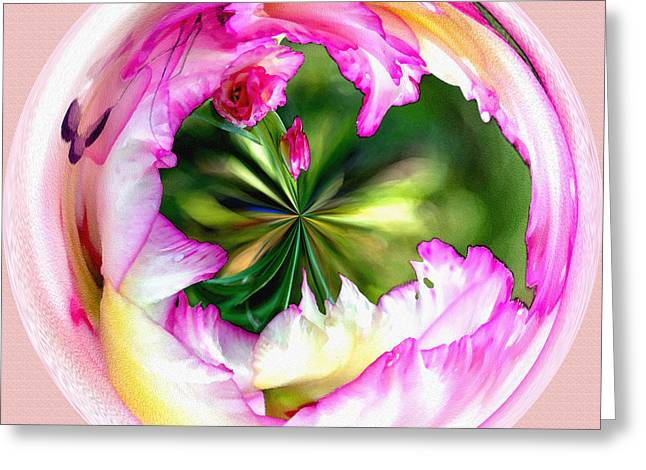 Fractal Orbs Greeting Cards - Glad Orb I Greeting Card by Jeff McJunkin