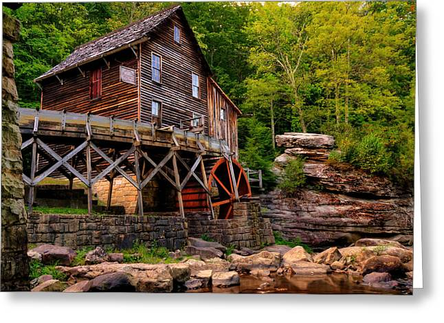 Grist Mill Greeting Cards - Glade Creek - Coopers Mill  Greeting Card by Gregory Ballos