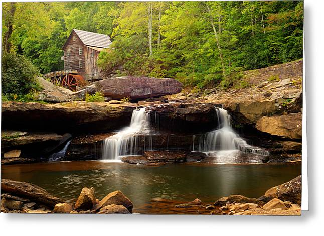 Grist Mill Greeting Cards - Glade Creek Grist Mill - Coopers Mill Greeting Card by Gregory Ballos