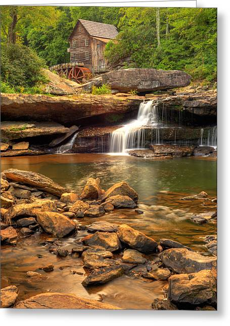 Grist Mill Greeting Cards - Glade Creek Grist Mill  Greeting Card by Gregory Ballos