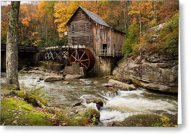 Babcock Greeting Cards - Glade Creek Grist Mill Greeting Card by Nathaniel Kidd