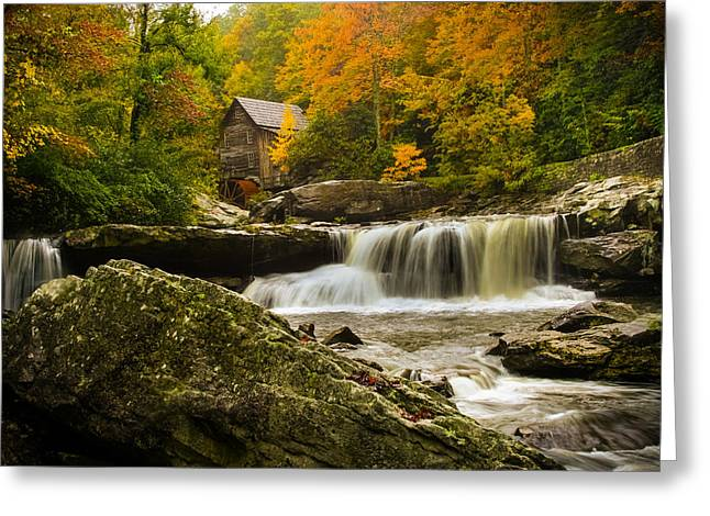 Glade Creek Grist Mill Greeting Card by Shane Holsclaw