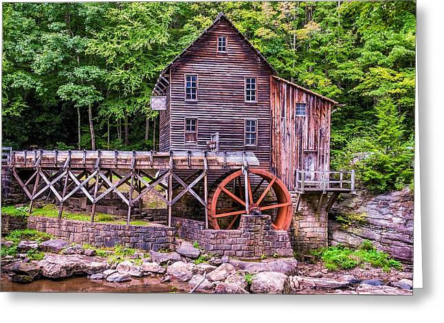 Glade Creek Grist Mill Greeting Card by Steve Harrington