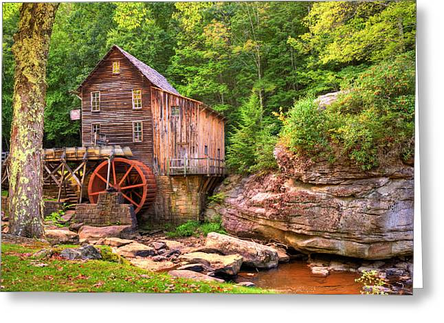 Grist Mills Greeting Cards - Glade Creek Mill  Greeting Card by Gregory Ballos