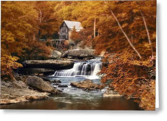 Glade Creek Greeting Cards - Glade Creek Mill Selective Focus Greeting Card by Tom Mc Nemar