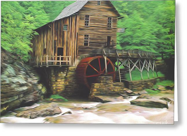 Grist Mill Greeting Cards - Glade Creek Mill Greeting Card by Steve Bailey