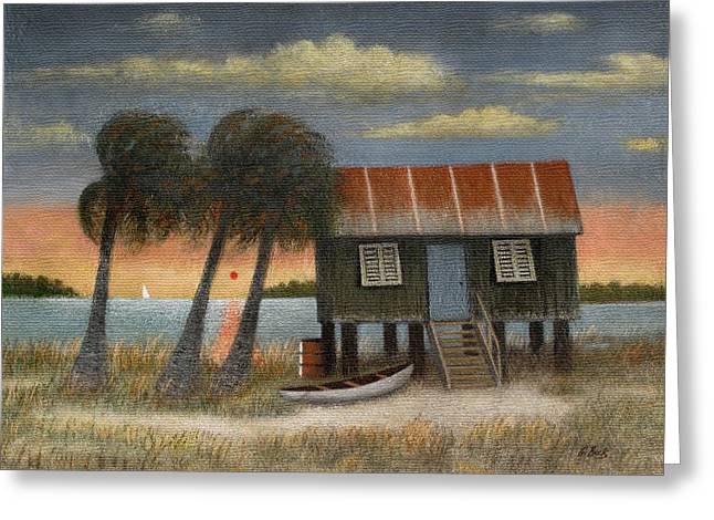 Shack Greeting Cards - Glades Dweller Greeting Card by Gordon Beck