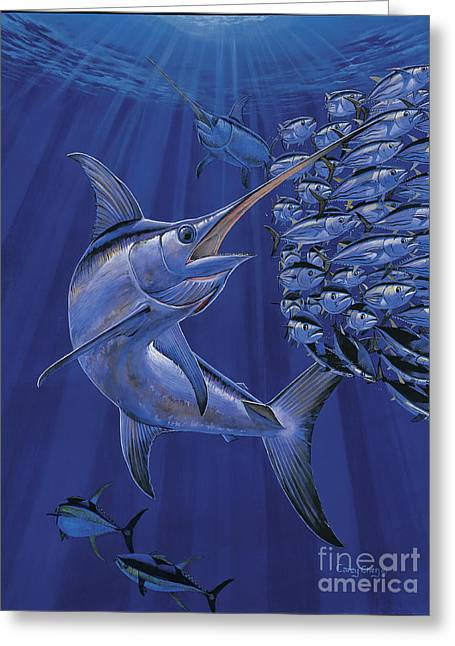 Striped Marlin Greeting Cards - Gladiator Off0080 Greeting Card by Carey Chen
