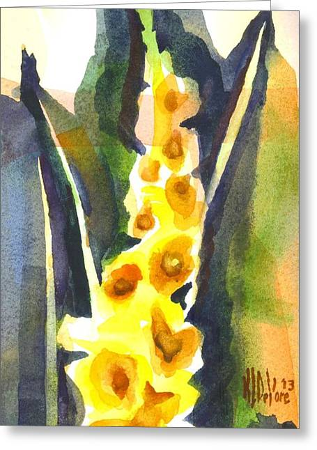 Interior Still Life Paintings Greeting Cards - Gladiolas in Wintertime Greeting Card by Kip DeVore
