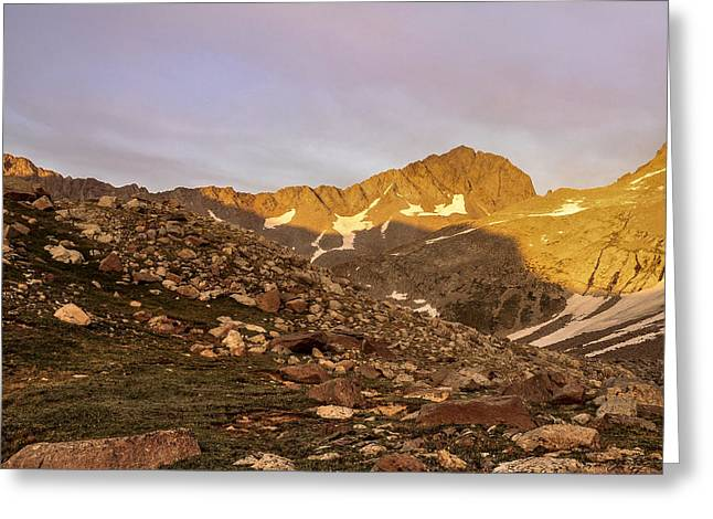 Gladstone Peak Greeting Card by Aaron Spong
