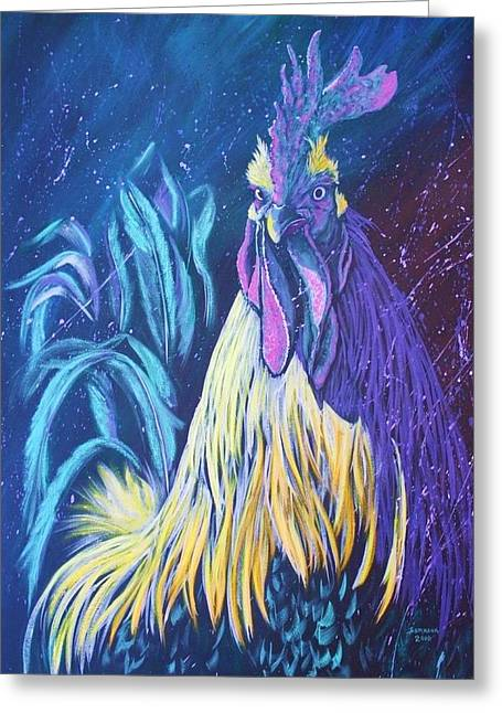 Splashy Paintings Greeting Cards - Glambert Greeting Card by Cynthia Sampson