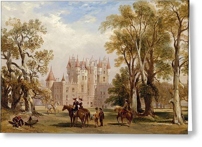 Riders Paintings Greeting Cards - Glamis Castle, Angus Greeting Card by Scottish School
