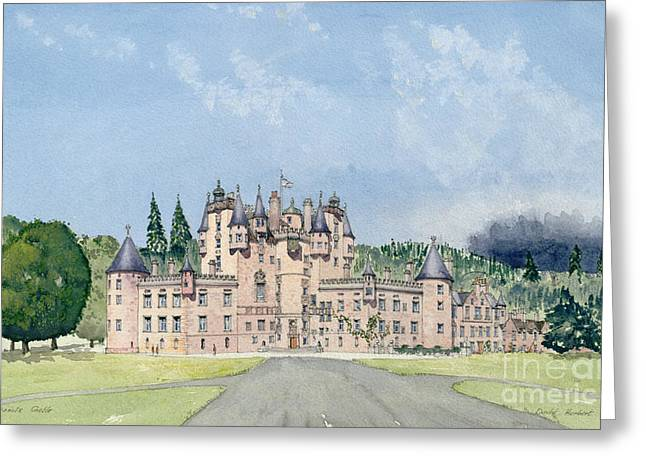 Glamis Castle Tayside  Greeting Card by David Herbert