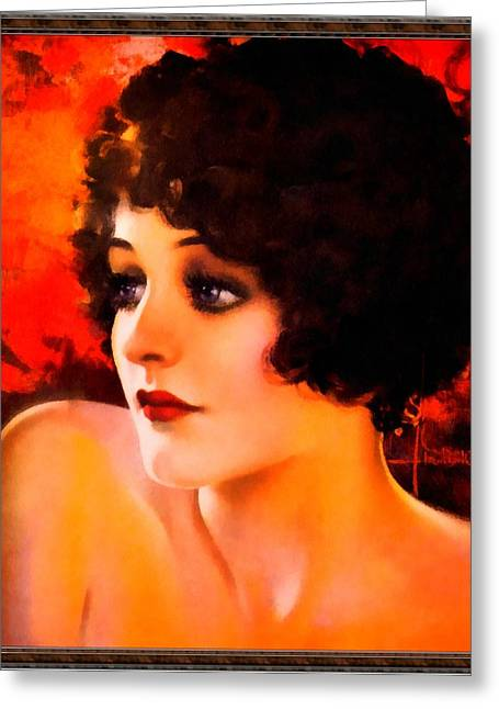 Pin-up Model Greeting Cards - Glamorous Pin Up Model Greeting Card by Rolf Armstrong