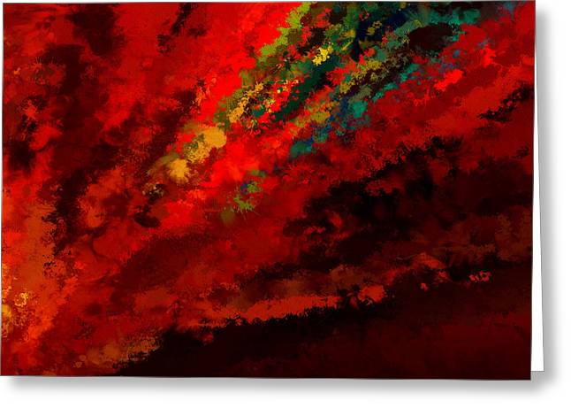 Abstract Impressionism Digital Art Greeting Cards - Glance Of Colors Greeting Card by Lourry Legarde