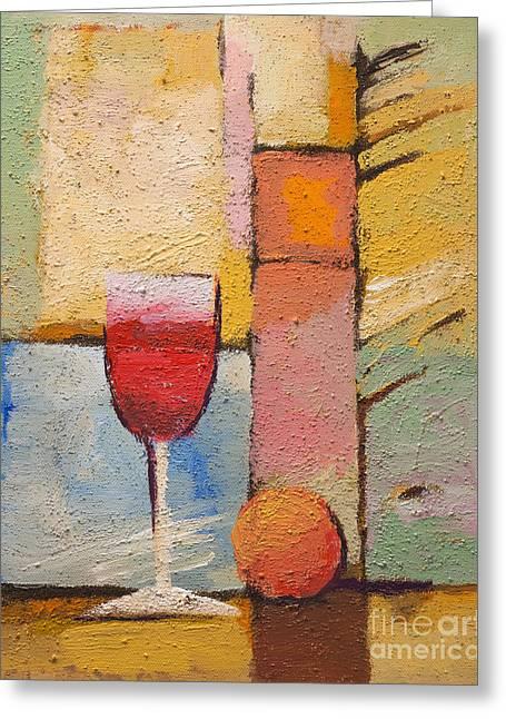 Still Life Artwork Greeting Cards - Glas of Wine Greeting Card by Lutz Baar