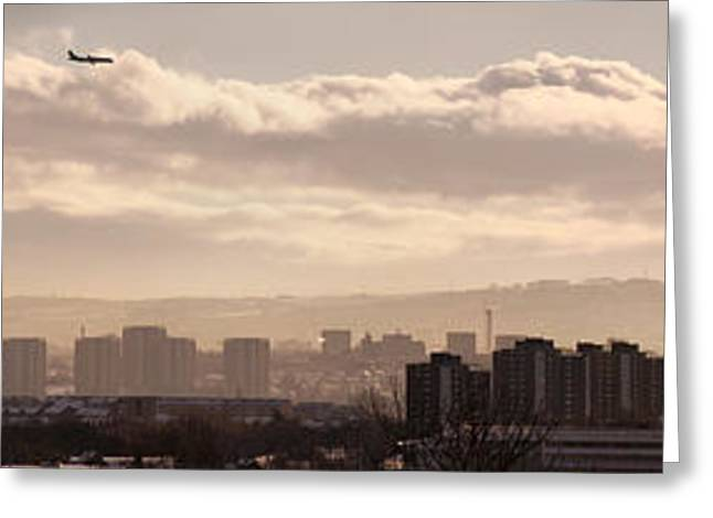Erection Greeting Cards - Glasgow Cityscape Greeting Card by Antony McAulay
