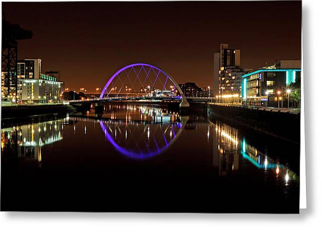 Scottish Scenic Greeting Cards - Glasgow Clyde arc reflection Greeting Card by Grant Glendinning