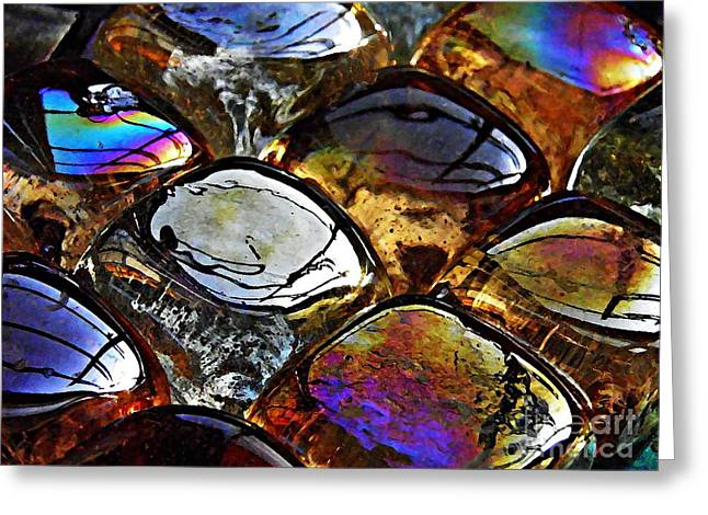 Jewel Tone Greeting Cards - Glass Abstract 13 Greeting Card by Sarah Loft
