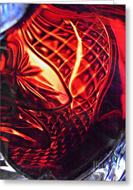 Cut Glass Greeting Cards - Glass Abstract 218 Greeting Card by Sarah Loft
