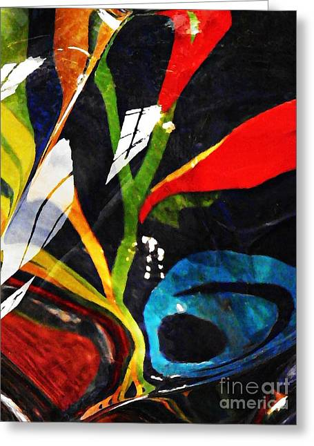Sarah Loft Greeting Cards - Glass Abstract 297 Greeting Card by Sarah Loft