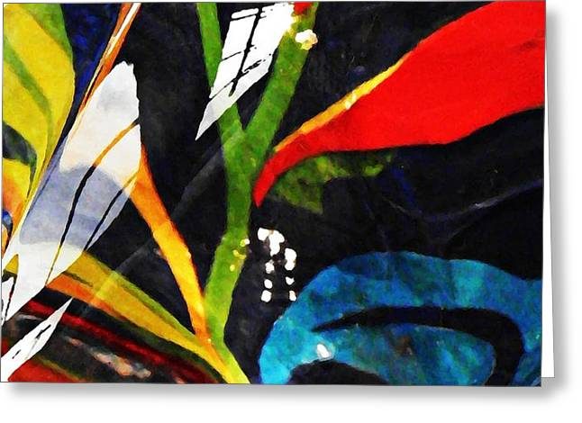 Glass Abstract 297 Greeting Card by Sarah Loft