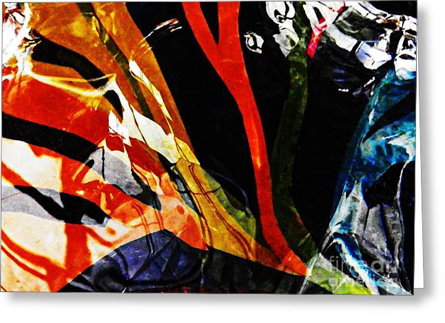 Distortion Greeting Cards - Glass Abstract 298 Greeting Card by Sarah Loft