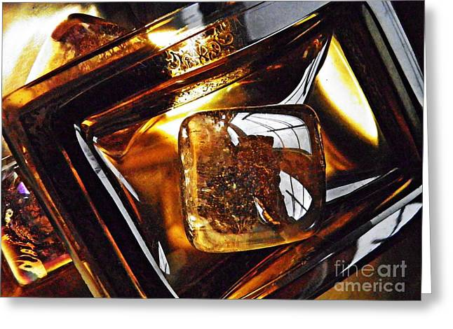 318 Greeting Cards - Glass Abstract 318 Greeting Card by Sarah Loft