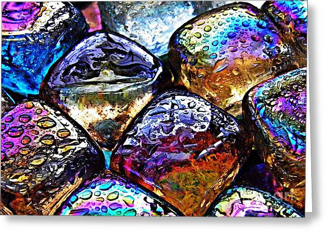 Jewel Tone Greeting Cards - Glass Abstract 35 Greeting Card by Sarah Loft