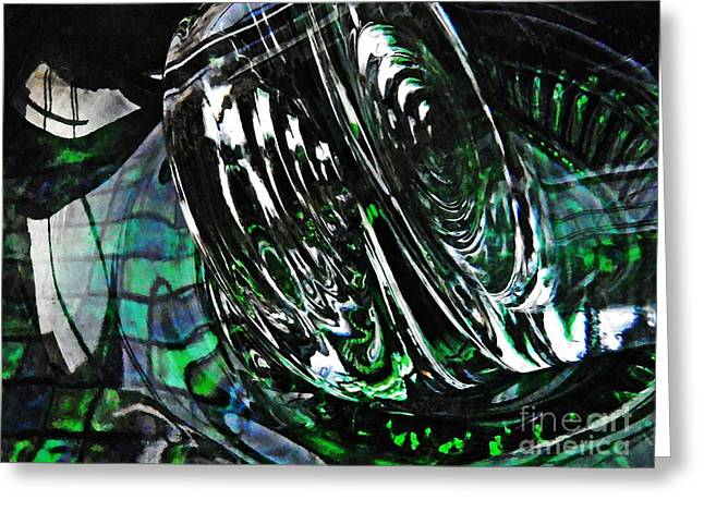 Glass Abstract 415 Greeting Card by Sarah Loft