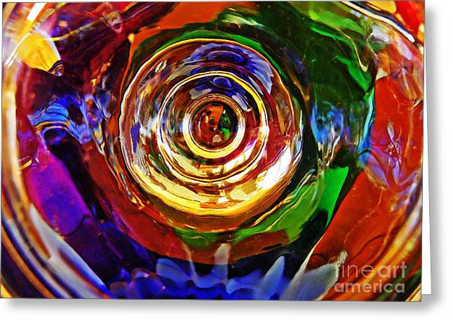 Raw Photography Greeting Cards - Glass Abstract 548 Greeting Card by Sarah Loft