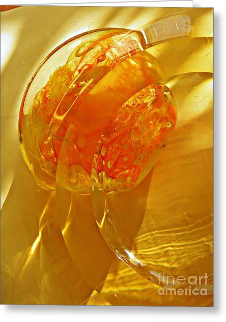 Sarah Loft Greeting Cards - Glass Abstract 581 Greeting Card by Sarah Loft