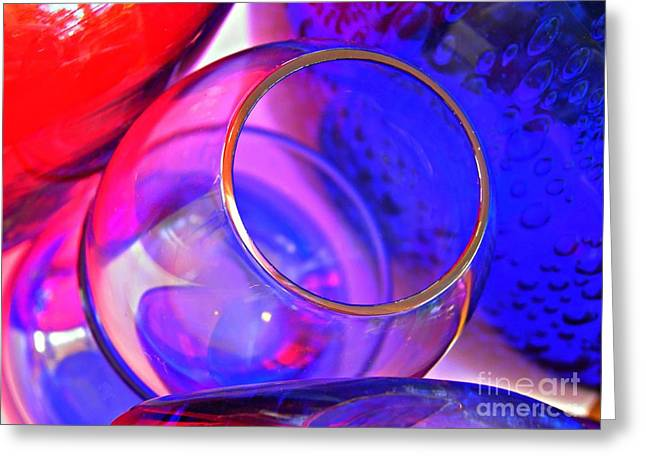 Distortion Greeting Cards - Glass Abstract 594 Greeting Card by Sarah Loft