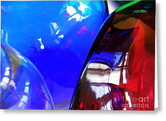 Glass Vase Greeting Cards - Glass Abstract 600 Greeting Card by Sarah Loft