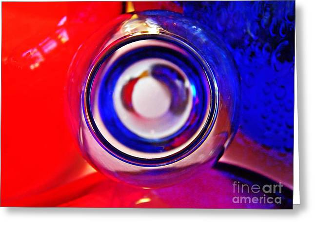 Modern Photographs Greeting Cards - Glass Abstract 619 Greeting Card by Sarah Loft