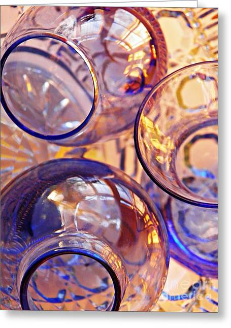 Glass Abstract 620 Greeting Card by Sarah Loft