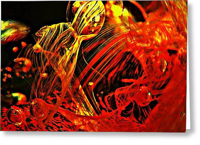 Distortion Greeting Cards - Glass Abstract 623 Greeting Card by Sarah Loft