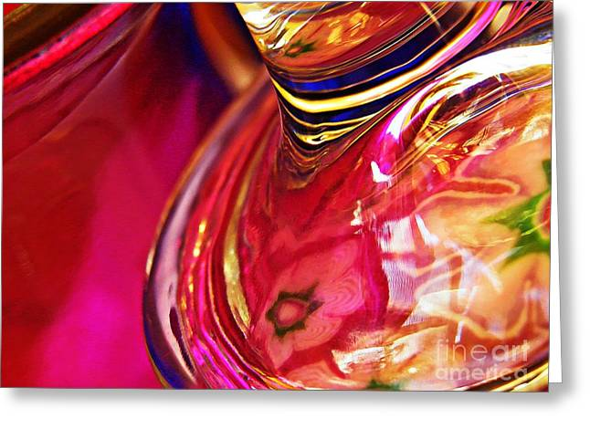 Raw Photography Greeting Cards - Glass Abstract 634 Greeting Card by Sarah Loft
