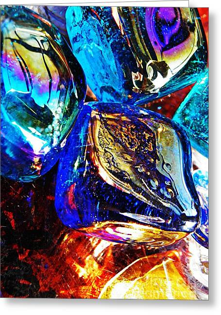 Sarah Loft Photographs Greeting Cards - Glass Abstract 687 Greeting Card by Sarah Loft