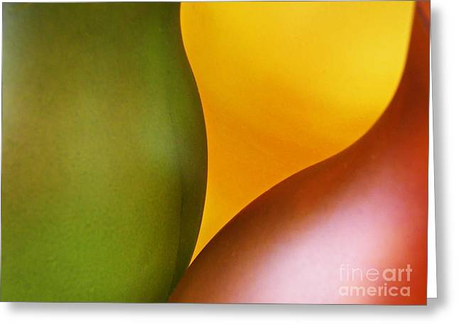 Glass Abstract 728 Greeting Card by Sarah Loft