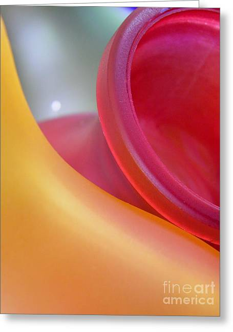 Glass Vase Greeting Cards - Glass Abstract 730 Greeting Card by Sarah Loft