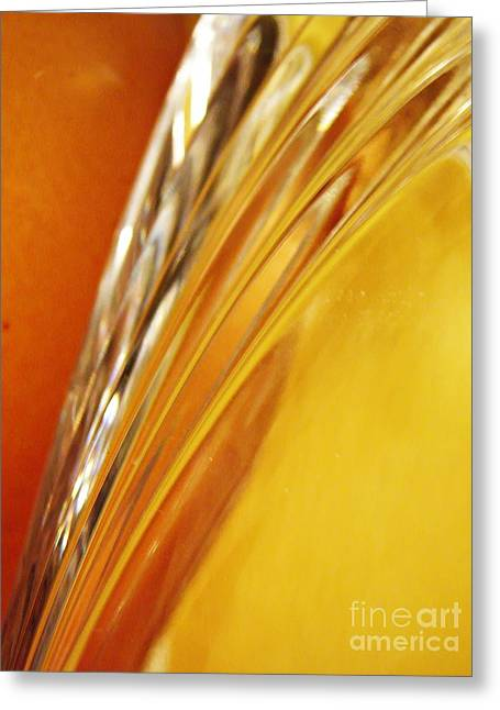 Glass Vase Greeting Cards - Glass Abstract 737 Greeting Card by Sarah Loft