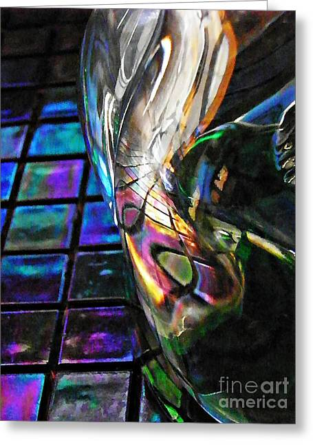 Glass Abstract 770 Greeting Card by Sarah Loft