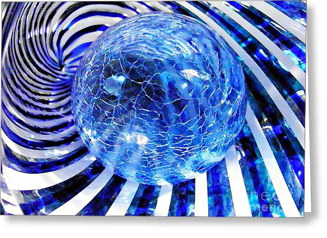 Raw Photography Greeting Cards - Glass Abstract 85 Greeting Card by Sarah Loft