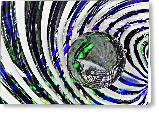 Raw Photography Greeting Cards - Glass Abstract 89 Greeting Card by Sarah Loft
