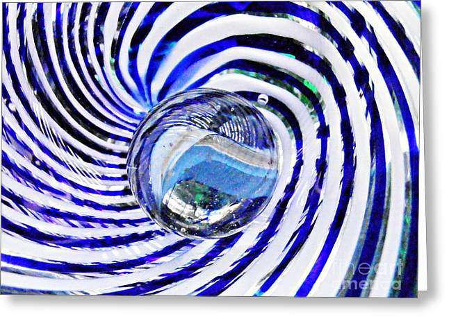 Raw Photography Greeting Cards - Glass Abstract 90 Greeting Card by Sarah Loft