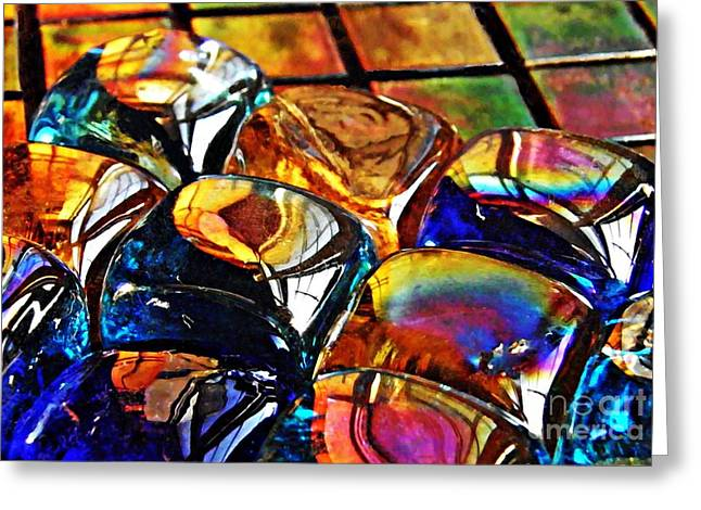 Medical Greeting Cards - Glass Abstract Greeting Card by Sarah Loft